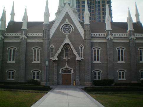 Die Versammlungshalle im religiösen Viertel von Salt Lake City