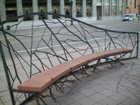 Moderne Kunst an der Main Street von Salt Lake City