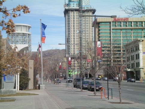 Die West Temple Street in Salt Lake City