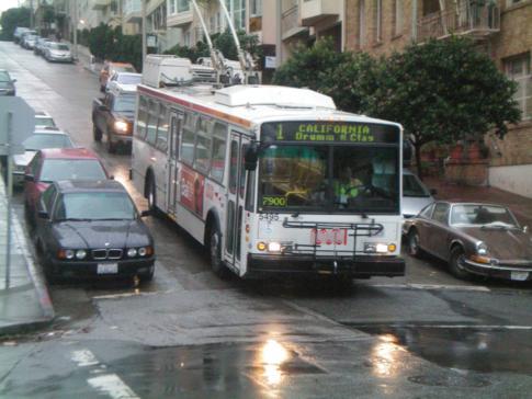 Ein Linienbus in San Francisco