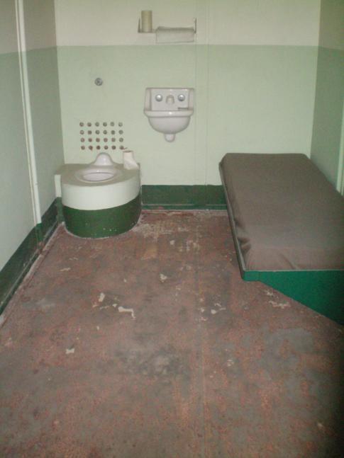 Eine Gefängniszelle auf Alcatraz