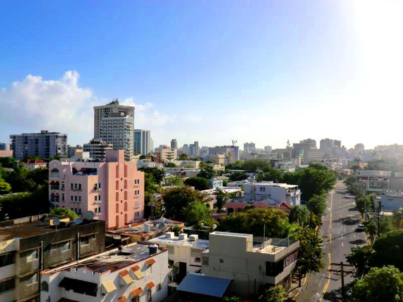 Spektakulärer Ausblick auf San Juan in den Ciqala Luxury