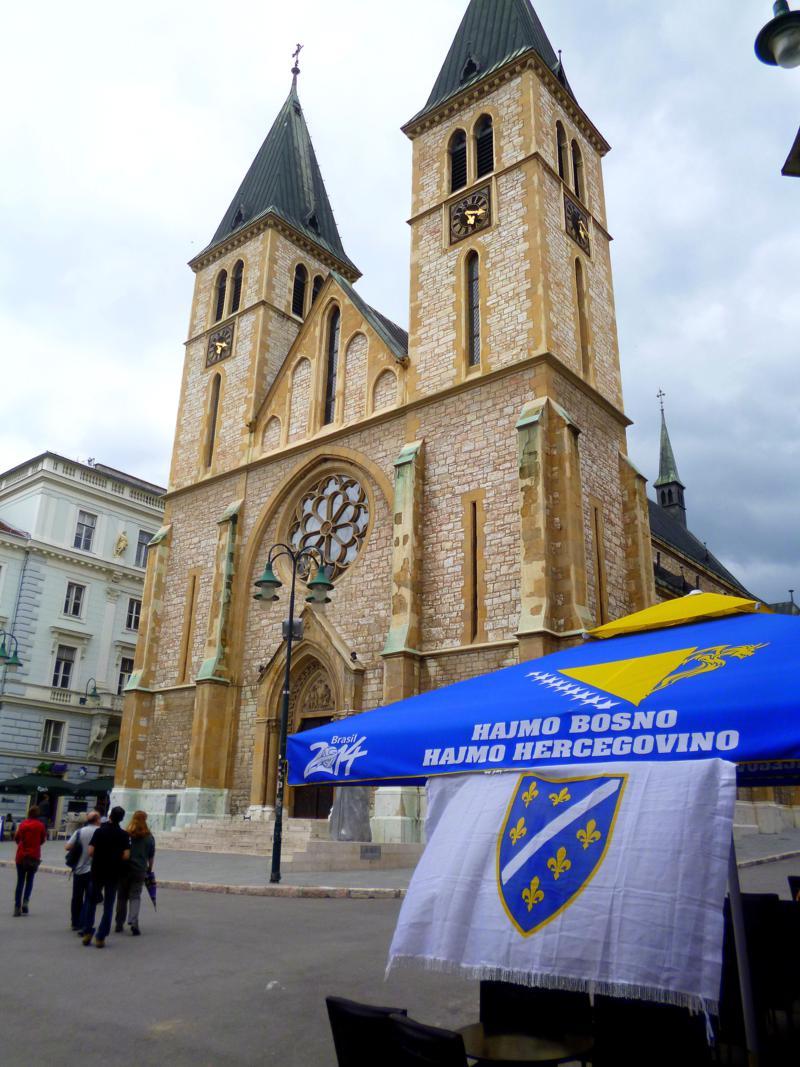 Die Kathedrale Herz Jesu in der Altstadt von Sarajevo