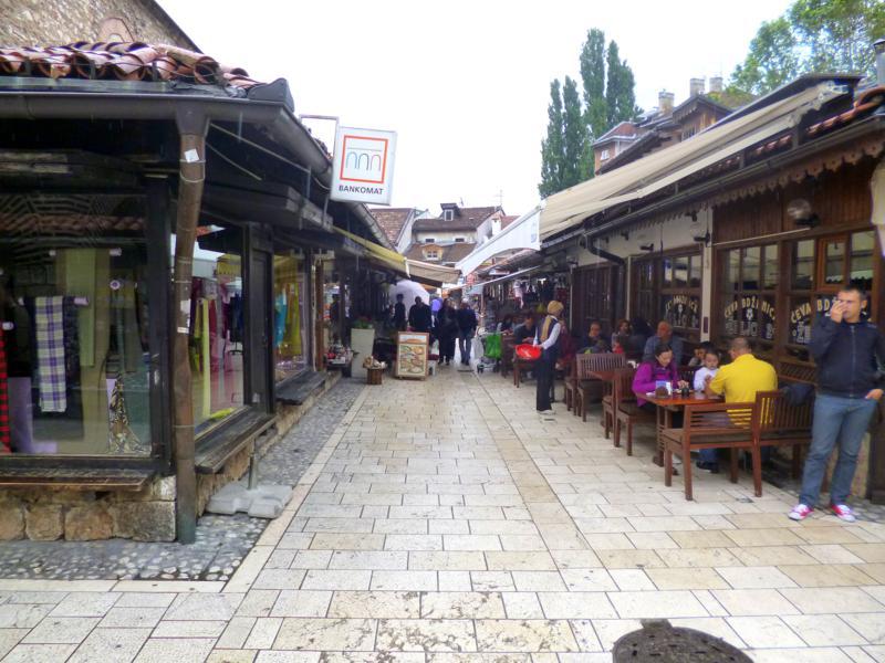 Der orientalische Teil der Altstadt von Sarajevo