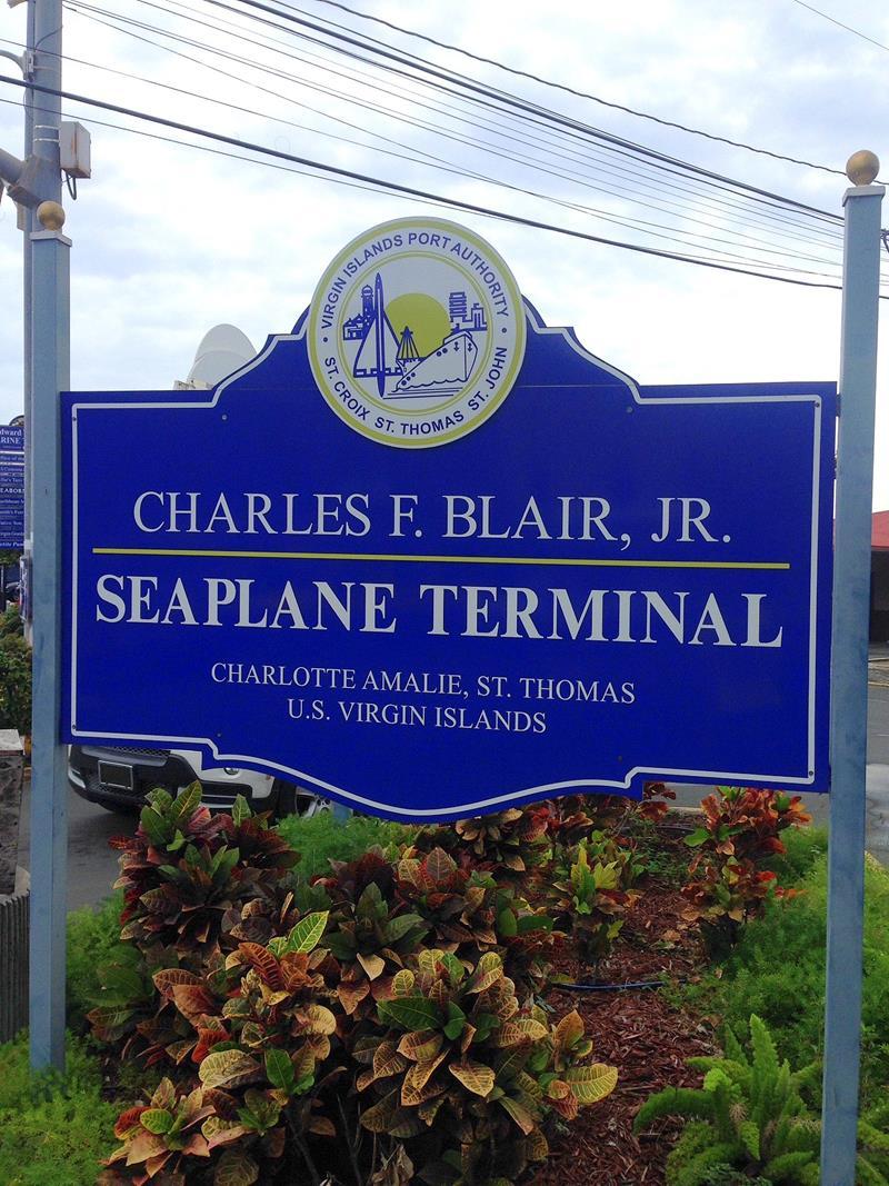 Das Seaplane Terminal von Seaborne Airlines auf St. Thomas