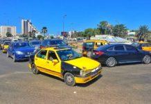 Hektisches Stadtleben in Dakar, der Hauptstadt im Senegal