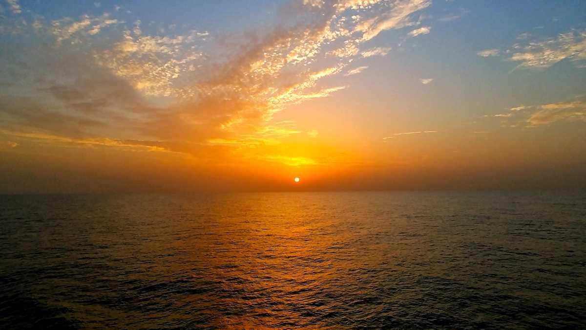 Die Senegal-Fähre Aline Sitoe Diatta auf dem Weg von Ziguinchor nach Dakar