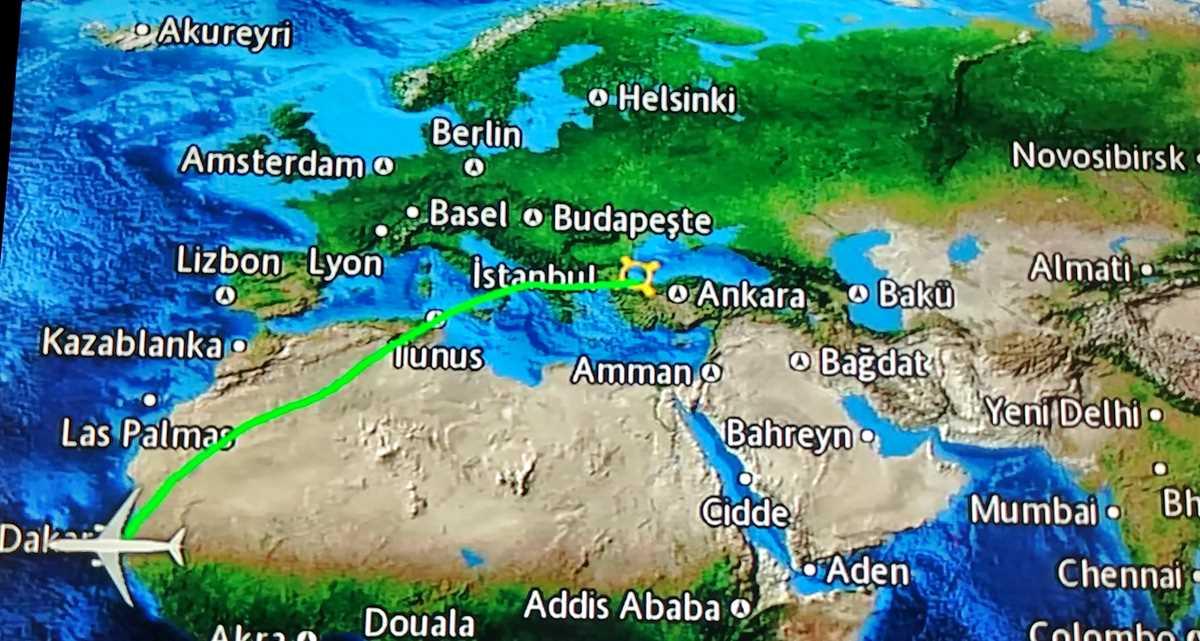 Anreise nach Dakar mit Turkish Airlines