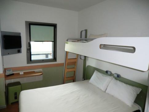 Unser kleines Doppelzimmer im ibis budget Sevilla