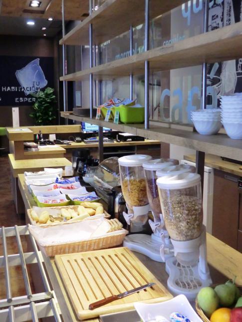 Kontinentales Frühstücksbuffet im ibis budget Sevilla