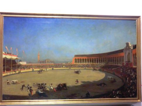 Historische Darstellung des Stierkampfes in Sevilla