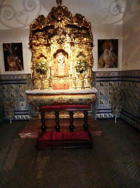 Die kleine Kapelle in der Arena, in der die Toreros vor dem Kampf beten können