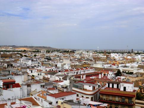 Ausblick vom Metrosol Parasol auf Sevilla