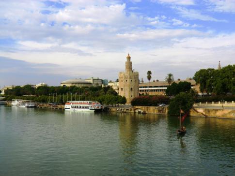 Das schöne Ufer des Rio Guadalquivir