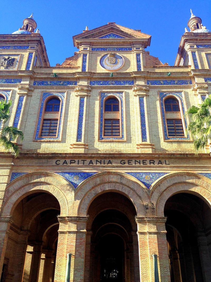 Die hübsche Altstadt von Sevilla, der größten Stadt in Andalusien