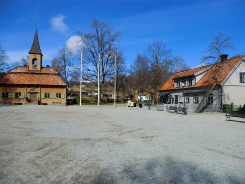 Der Marktplatz und das Stadthaus von Sigtuna
