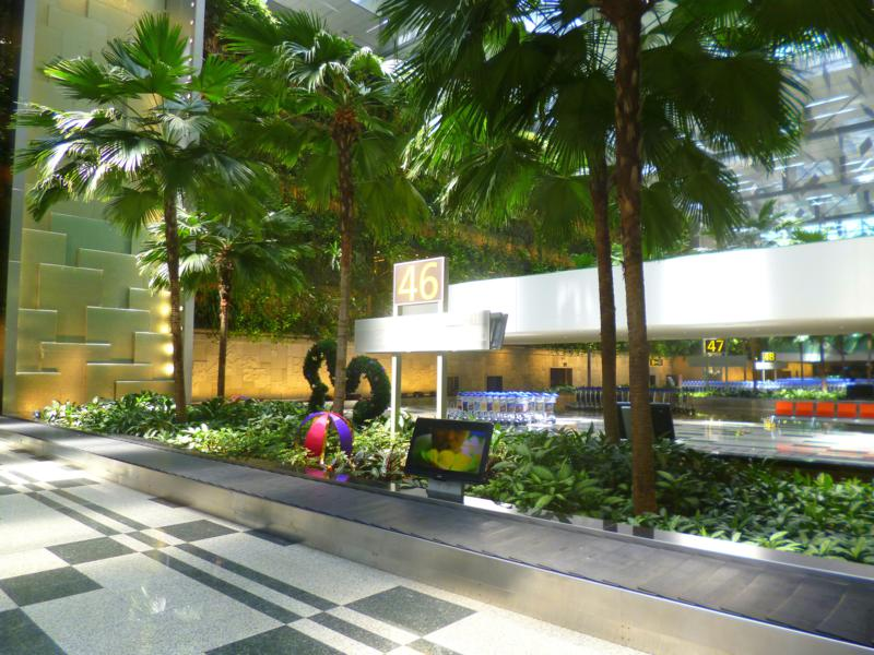 The Changi International Airport in Singapur