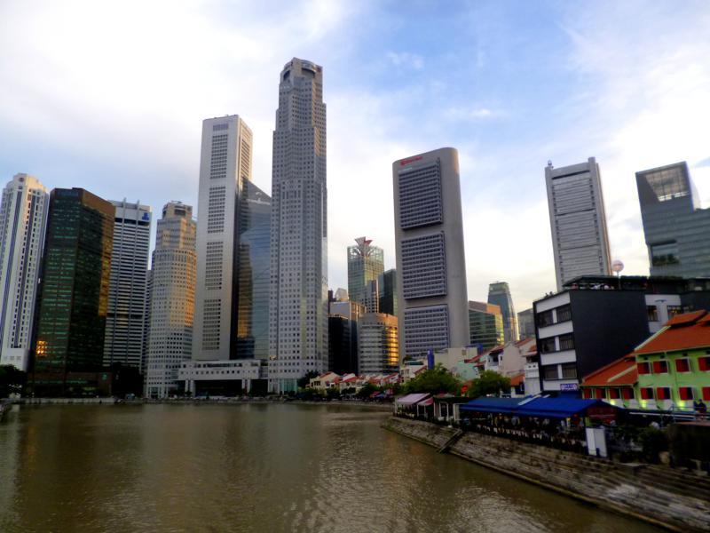 Der Boat Quay am Singapur River - eine Vorzeigepromenade in Singapur
