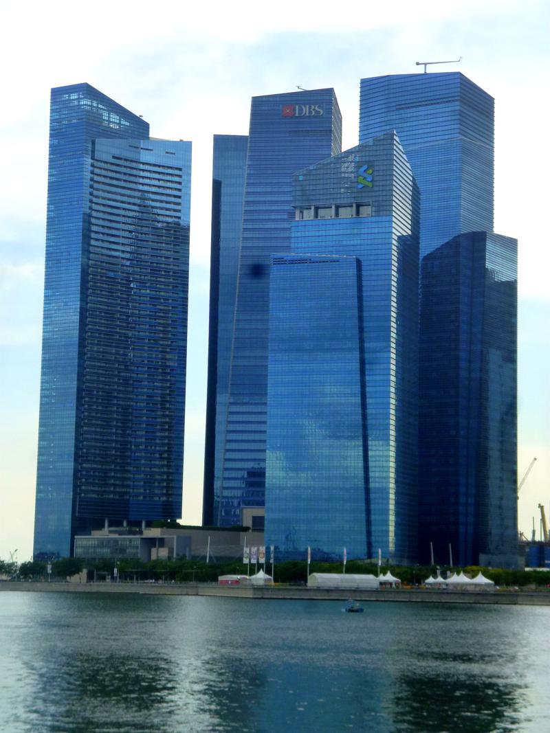 Die Marina Bay in Singapur