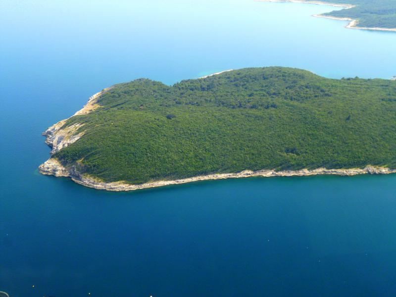 Blick auf Istrien beim Landeanflug mit Smartwings auf Pula