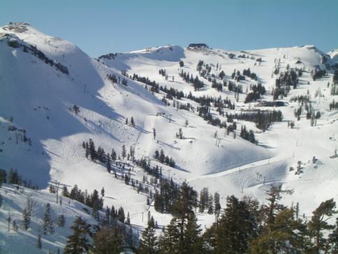 Das Skigebiet von Squaw Valley im Überblick