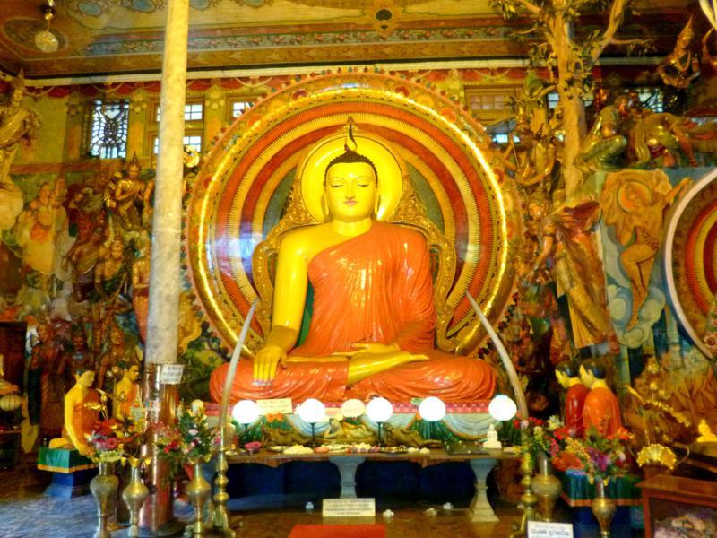Der Gangaramaya-Tempel, eine der Attraktionen von Colombo
