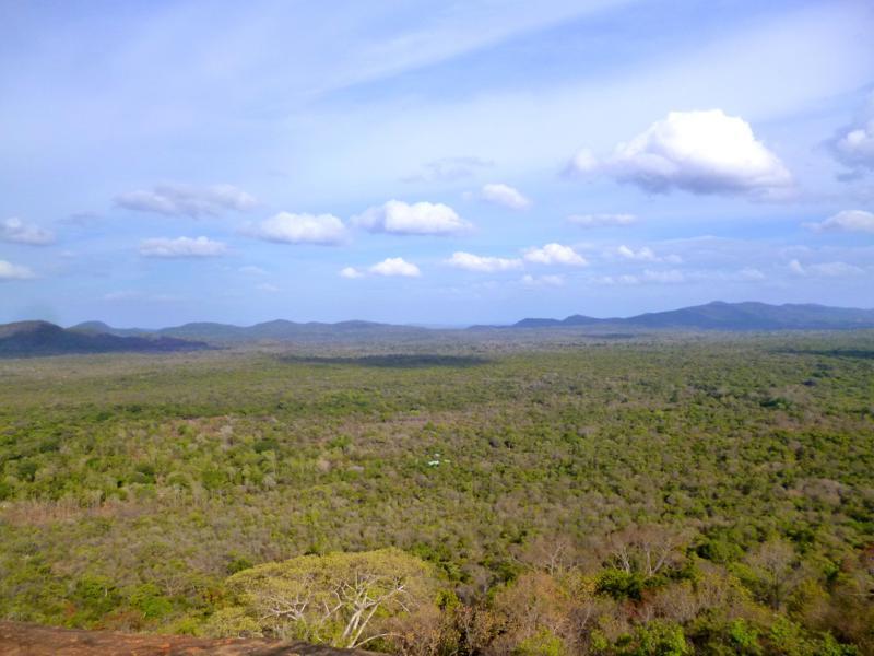 Spektakuläre Aussicht vom Pidurangala Rock in der Nähe von Sigiriya