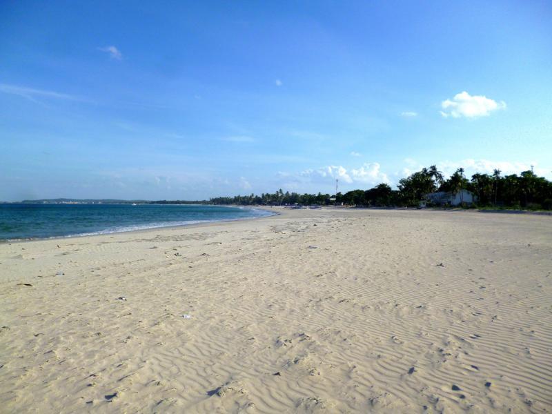 Der Traumstrand von Uppuveli im Nordosten von Sri Lanka