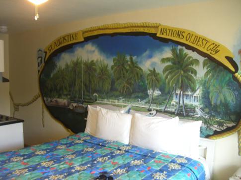 Unser Doppelzimmer im Magic Beach Motel in St. Augustine
