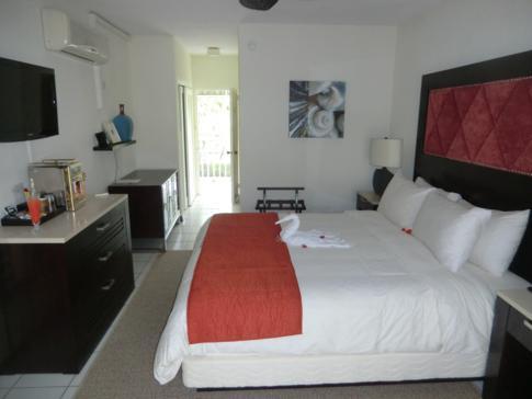 Ein normales Doppelzimmer im Hotel Blu, St. Lucia