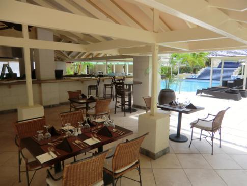 Der Innenhof des ehemaligen Village Inn and Spa, heute Hotel Blu