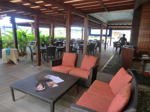 Das legere Beachfront Restaurant im The Landings Hotel