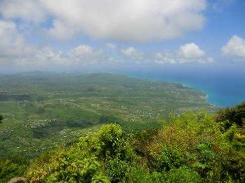 Ausblick vom Gipfel des Großen Piton: St. Lucia liegt uns zu Füßen