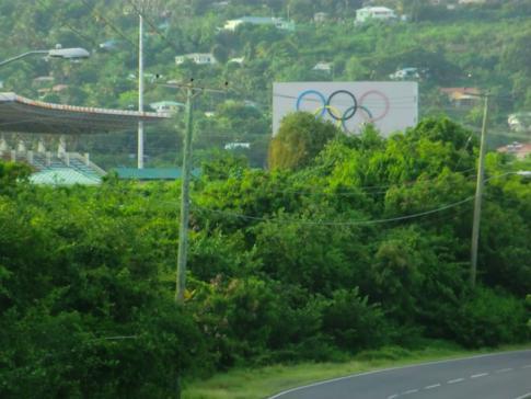Das größte Stadion von St. Lucia, das George Odlum Stadium
