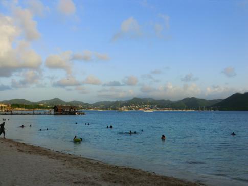 Blick auf die Rodney Bay