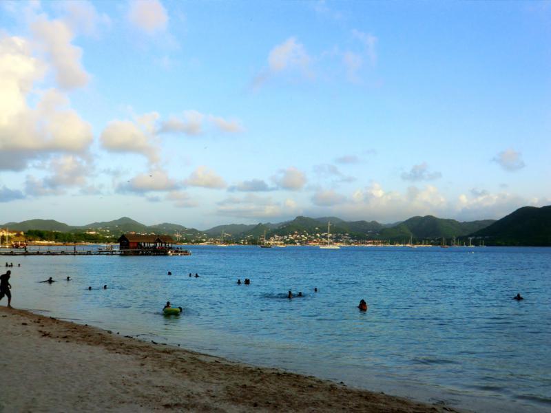 Der Pigeon Island Beach auf St. Lucia