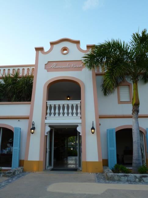 Eingangsbereich zum Alamanda Resort, St. Martin