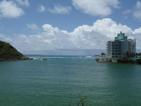 Meerblick im Captain Olivers Resort in St. Martin