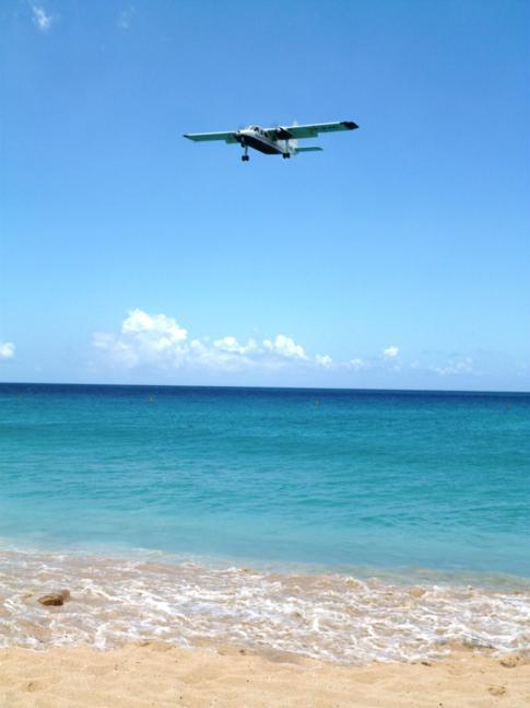 Maho Beach - der Flugzeugstrand