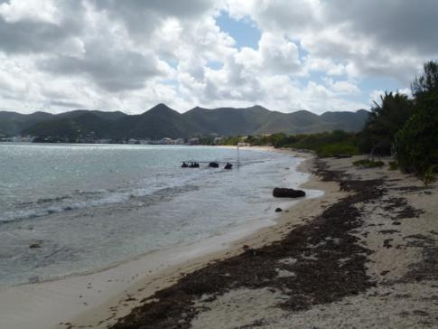 Die Nettle Bay an der Westküste von St. Martin