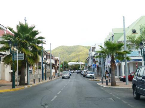 Die Hauptstadt des französischen Inselteils: Marigot