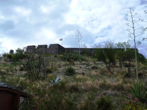 Das Fort St. Louis in Marigot, Hauptstadt des französischen Teils von St. Martin