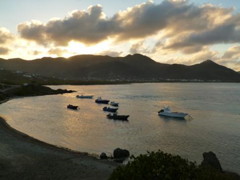 Toller Sonnenuntergang in der Coralita Bay
