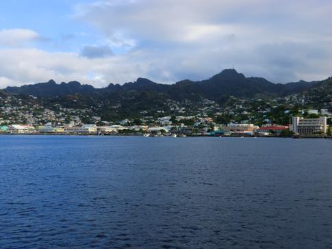Blick auf die Bucht vor Kingstown in St. Vincent