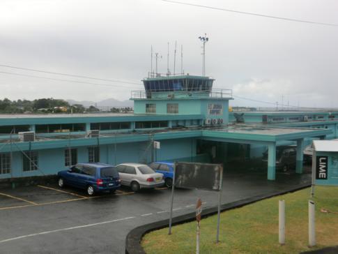 Der Arnos Vale Airport von St. Vincent in Kingstown