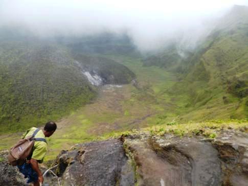 Das Innere des Vulkans Soufriere