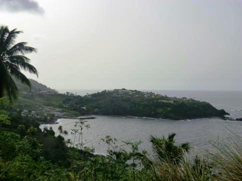 Blick auf die Owia Salt Ponds in St. Vincent