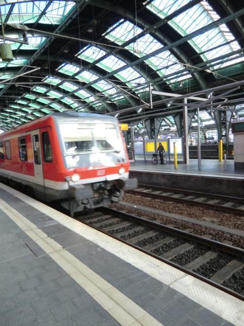 Zug nach Stettin am Ostbahnhof von Berlin