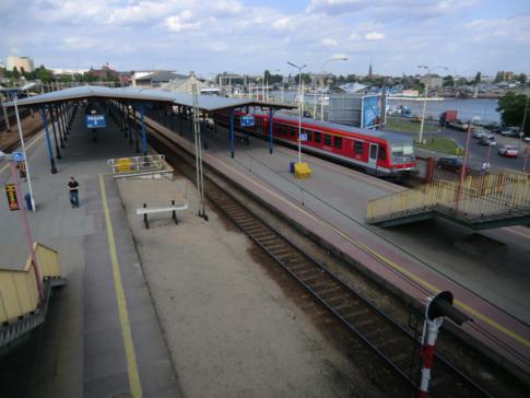 Übersicht über Stettin Glowny, den Hauptbahnhof von Stettin