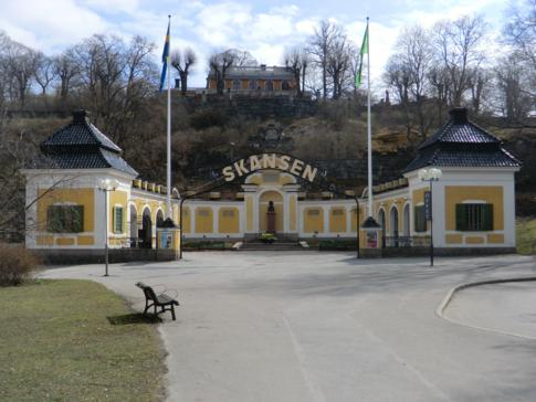 Der Eingang zu Stockholms Erholungszentrum: Skansen